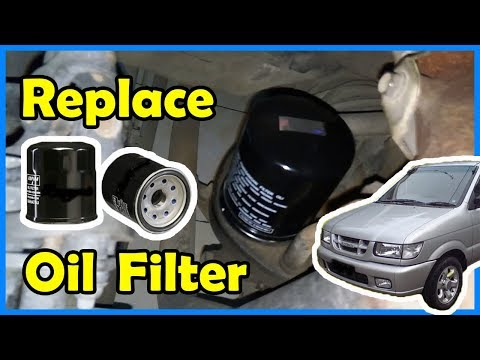 Cara Mengganti Filter Oli Mesin ISUZU Panther 2.5 Non Turbo (How To Replace Oil Filter)