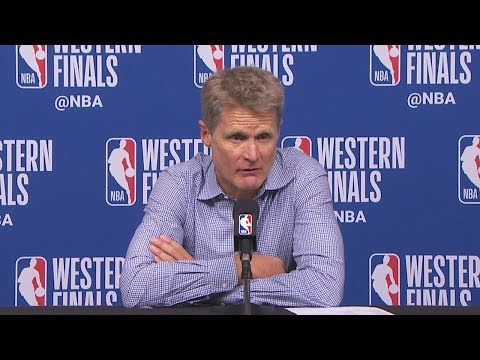 Steve Kerr Postgame Interview - Game 5 | Warriors vs Rockets | May 24, 2018 | 2018 NBA West Finals