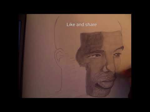 After Sketch Of The Famous Rapper Drake Youtube