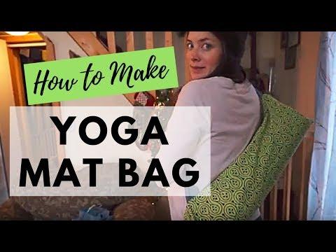 How to Make a Yoga Mat Bag| Upcycled Pillowcase