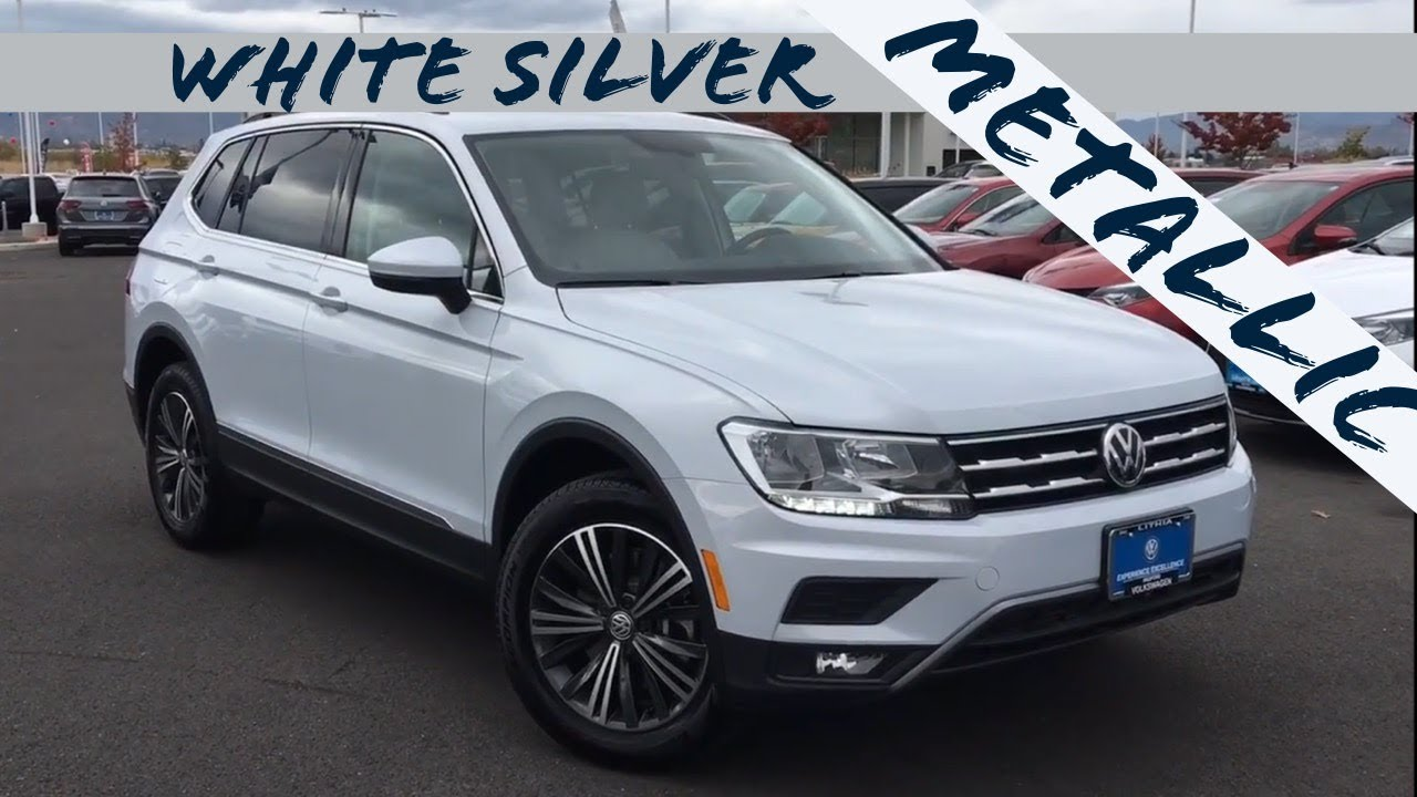 2018 white silver metallic tiguan se with 4motion youtube. Black Bedroom Furniture Sets. Home Design Ideas