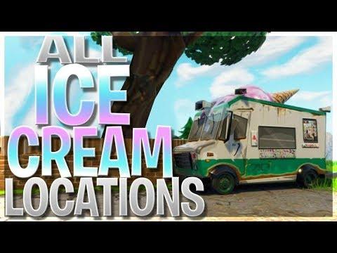 Visit Different Ice Cream Trucks - *ALL* Ice Cream Truck Locations In Fortnite Battle Royale