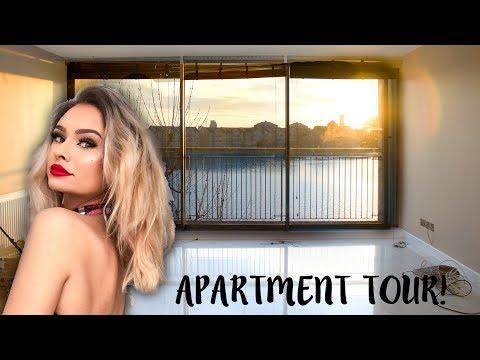 EMPTY LONDON APARTMENT TOUR! + moving vlog #1