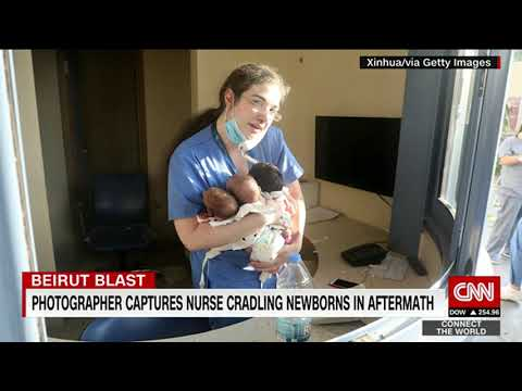 A nurse pulled three newborns out of a hospital hit by the Beirut blast