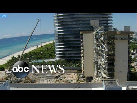 Surfside, Florida, building remains could be demolished tomorrow