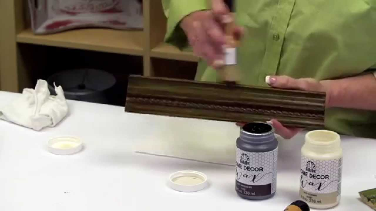 FolkArt Home Decor: How To Use Antique Wax