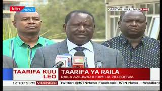 You shall never intimidate or destroy the peace of Kenya: Raila aziliwaza familia zilizofiwa