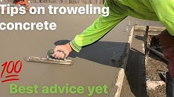 Tips on how to use a concrete trowel