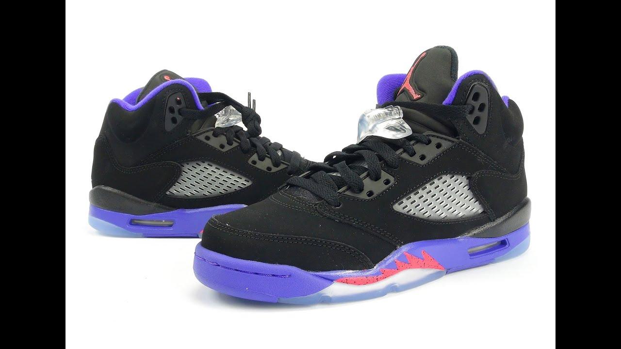 7865187df1c231 Air Jordan 5 GS Raptors Review + On Feet - YouTube