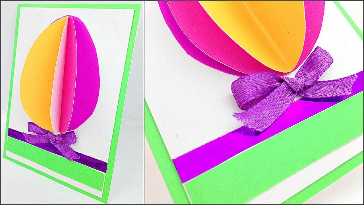 3d Easter Egg Greeting Cards To Make Ideas Step By Step Diy Easter