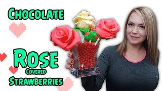 Modeling Chocolate Roses | Chocolate Covered Strawberries Video