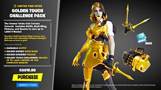 New MARIGOLD *GOLDEN TOUCH* Pack!! (Fortnite Battle Royale)