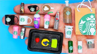 12 DIY MINIATURE FOOD AND SWEETS HACKS AND CRAFTS OF STARBUCKs !!