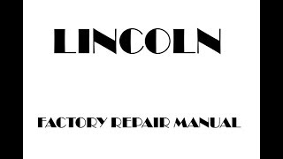 Lincoln MKZ 2019 service repair manual
