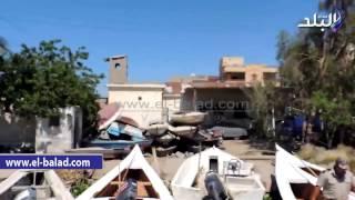 بالفيديو والصور.. إزالة 10 أفدنة تعديات وجسور مخالفة على بحيرة 'البرلس'