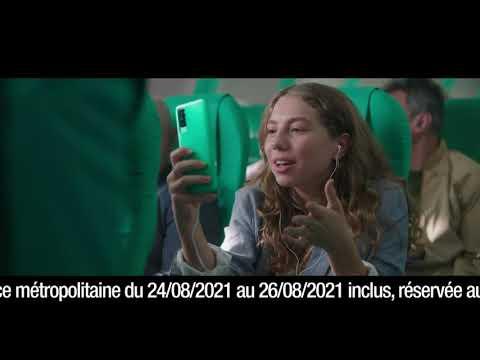 """Musique de la pub Forfait mobile 80Go Red by SFR – téléphone en avion """"c'est vert c'est clair""""  Juillet 2021"""