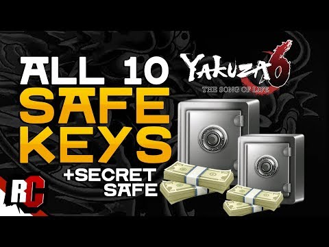 YAKUZA 6 | All 10 Safe Key Locations (+Opening Secret Safe at Serena Rooftop)
