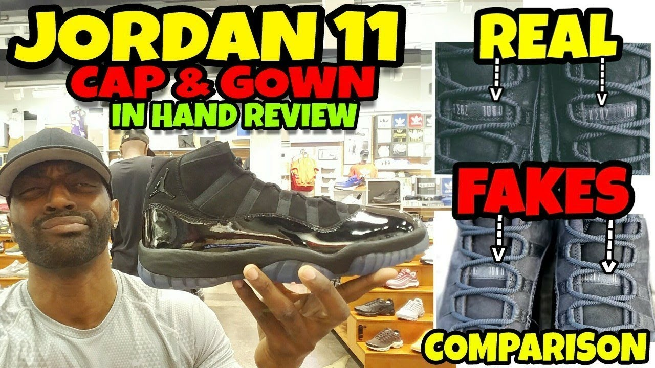 Real vs Fake Jordan 11 Cap & Gown Comparison & Detailed Review - YouTube