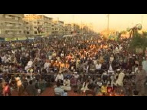 Protest in Karachi in solidarity with Kashmir