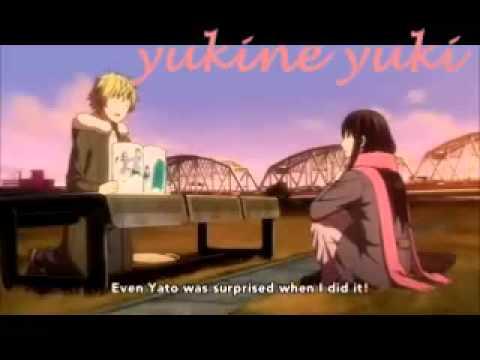 Noragami - Yukine x Hiyori scene ( Episode 11 ):