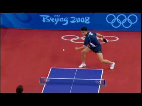 Hard Side Spin Beijing Olympics  Ju LIN   (DOM)  X  Tiago APOLONIA (POR)