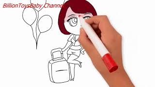 How to draw  Girl  air hostess Chibi