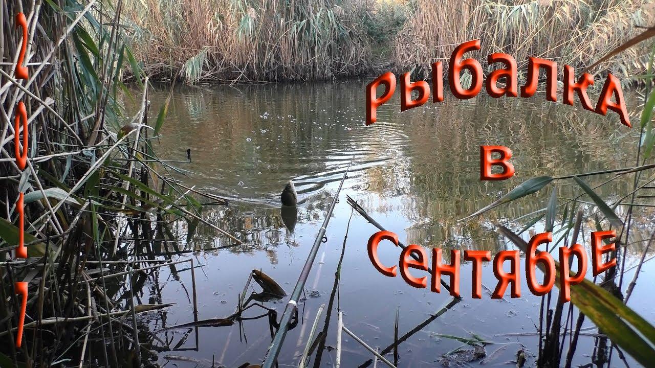 Рыбалка осенью в сентябре,на поплавок