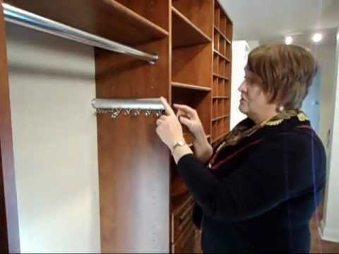 California Closets Accessories Quot How To Install A Tie Rack