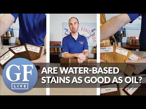 Are Water-Based Stains As Good As Oil-Based Stains? | FB Live | General Finishes