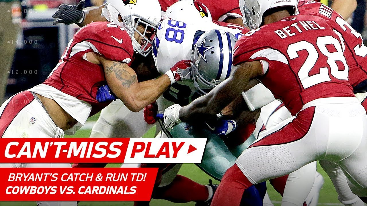 Dez Bryant Carries The Cardinals Defense Into The End Zone Can T Miss Play Nfl Wk 3