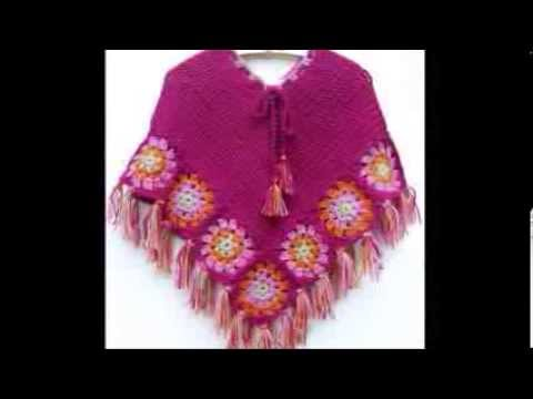 crochet poncho - YouTube