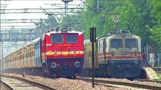 Dangerous Overtake!! 02925 Paschim Express Overtake Shaheed Express At Narela In Full Mps!!