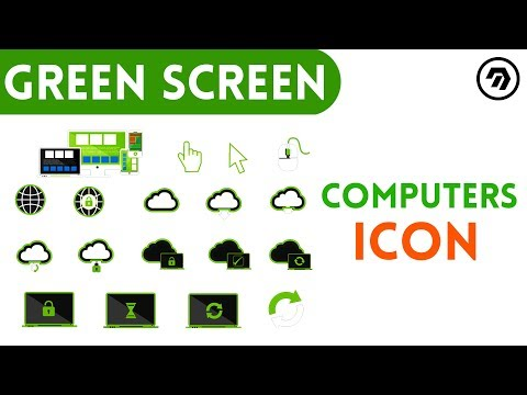 Green Screen Computers Icon | mrstheboss