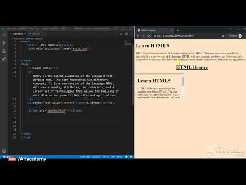 Iframe Element - HTML 5 Tutorial | AH Academy | thumbnail