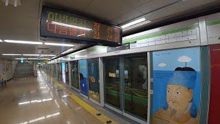 [철도풍경] 부산도시철도 2호선 장산행 열차 해운대역 …