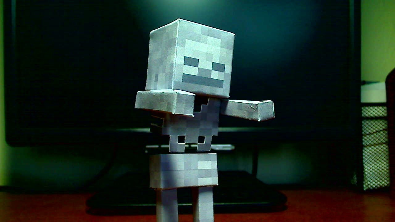 Papercraft How to make a Minecraft Papercraft Skeleton