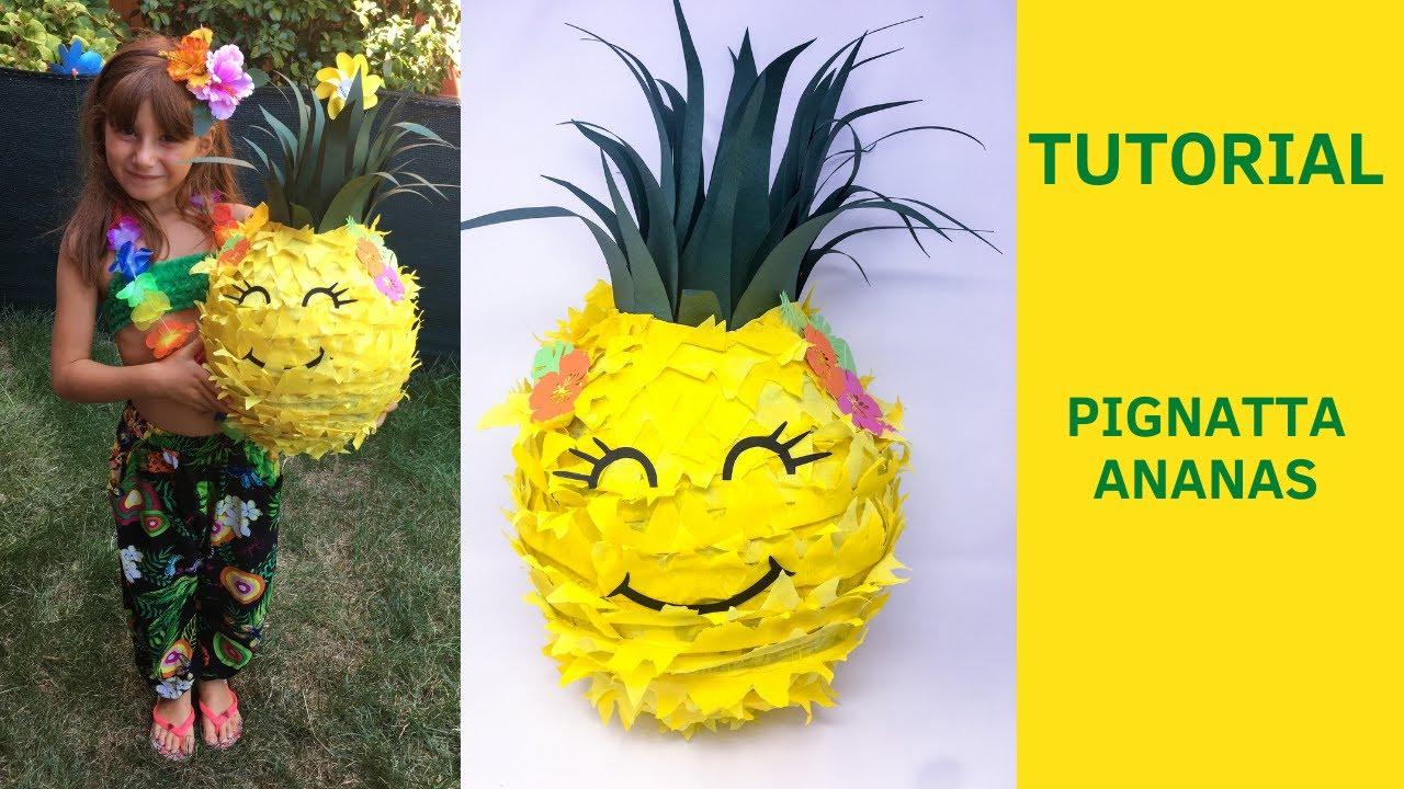 Tutorial pignatta o pentolaccia ananas anatta fai da te for Inferriate fai da te