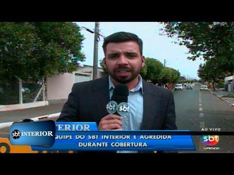 Equipe do SBT Interior é agredida durante reportagem