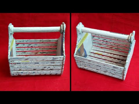 Newspaper craft | best out of waste craft idea | recycle newspaper | HMA##352