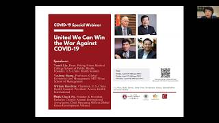 COVID 19 Special Webinar: United We Can Win the War Against COVID-19
