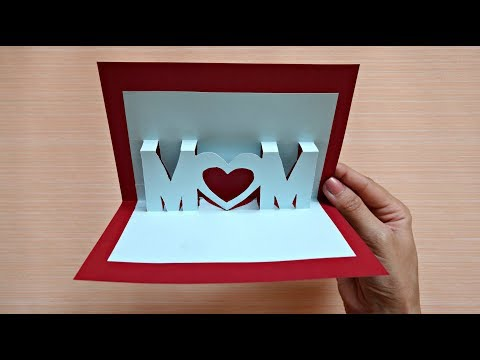 Pop up card for mother's day | 3D mom card | Maison Zizou