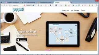 Создание карт знаний в сервисе popplet.com 1/3