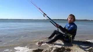 kiteboarding lesson - how to waterstart - One Launch Kiteboarding