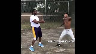 Baton Rouge Rapper Scotty Cain Gets Slammed On The Ground During A Fight!