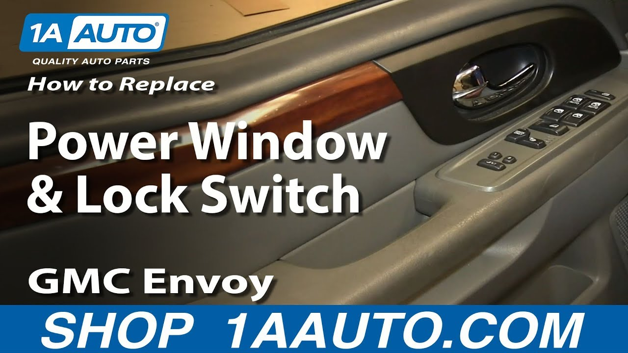 power door lock switch wiring diagram securitron key how to install replace window and 2002-09 gmc envoy xl xuv - youtube