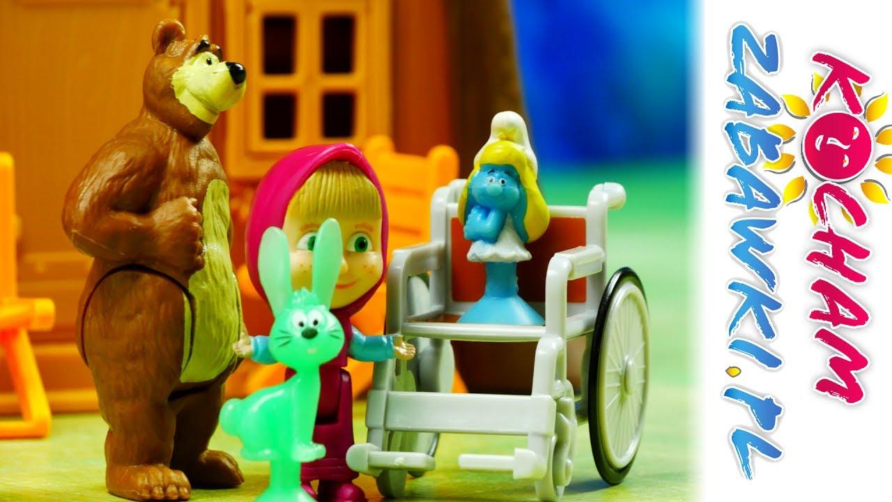 Chora Smerfetka – Stikeez Smerfy & Masza i Niedźwiedź – Bajki dla dzieci