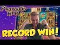RECORD WIN!!!! Pharaohs Ring Big win - Casino - Huge Win (Online Casino)