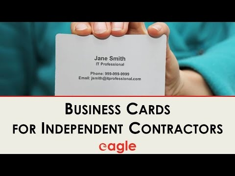 Business Cards For The Independent Contractor
