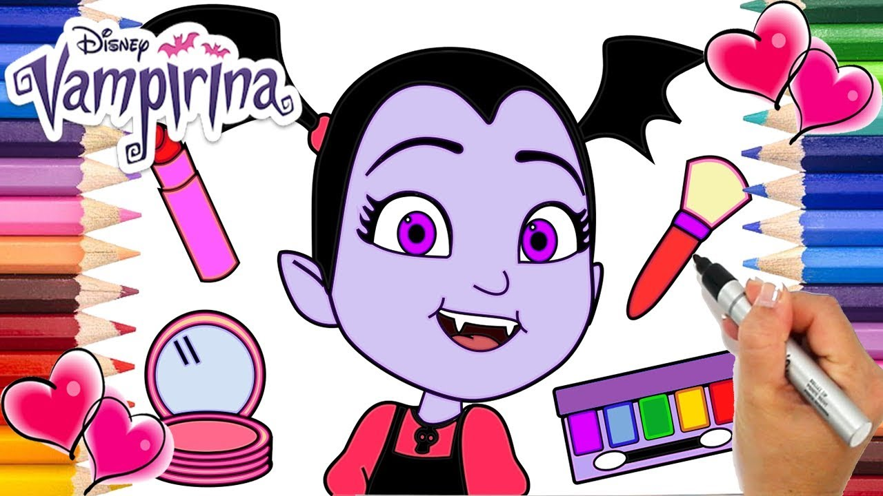 Vampirina Makeup Coloring Page | Vampirina Makeover ...