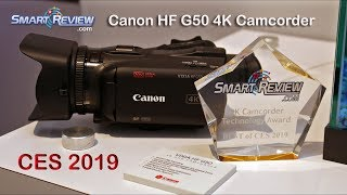 Best of CES 2019 | Canon Vixia HF G50 4K Camcorder | SmartReview.com